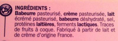 Fromage à tartiner nature -25% de sel réduit - Ingrédients - fr