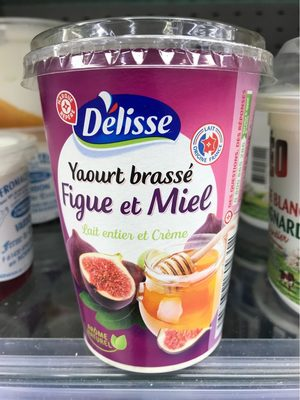 Yaourt gourmand brassé figue et miel - Produit - fr