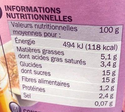 Yaourt gourmand brassé figue et miel - Informations nutritionnelles - fr