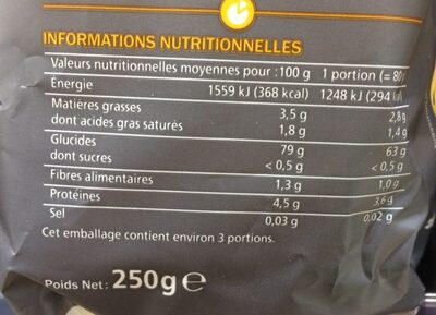 Tagliatelles sans gluten - Ingrédients