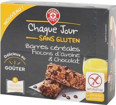 Barres céréales flocons d'avoine et chocolat sans gluten x 6 - Producto - fr