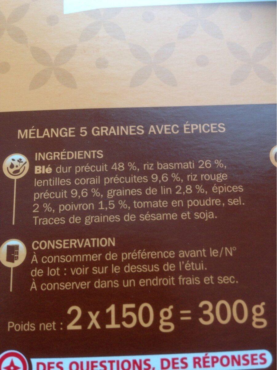 Melange 5 graines et epices - Ingrediënten