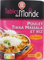Poulet tikka massala et son riz basmati - Produit