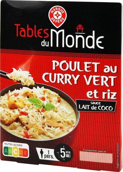 Poulet au curry vert et riz sauce lait de coco - Produit - fr