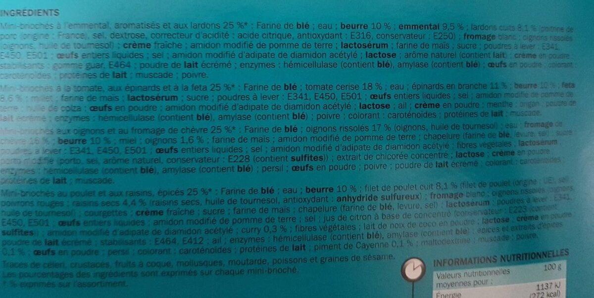 Mini-briochés x 16 - Ingredients