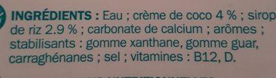 boisson coco - Ingredients