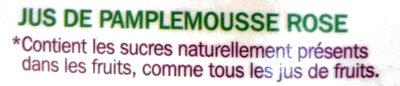 Pur jus pamplemousse rose - Ingrediënten - fr
