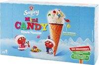 Mini candy cones glace vanille bonbons x 8 - Product