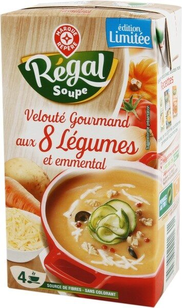 Velouté Gourmand aux 8 Légumes et emmental - Produit - fr