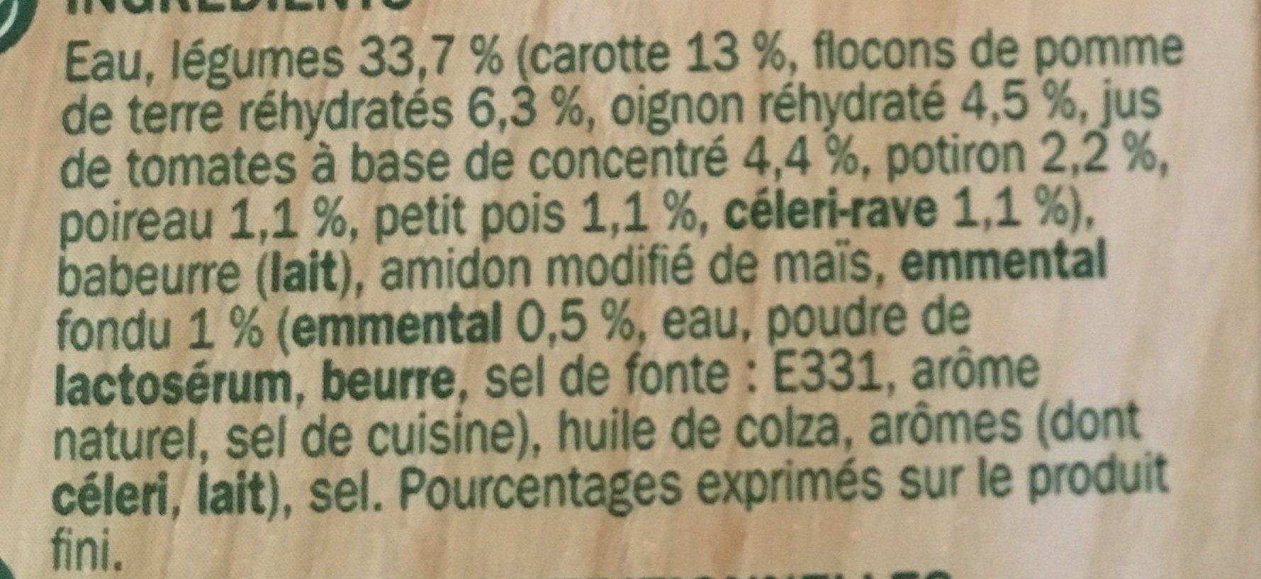Velouté Gourmand aux 8 Légumes et emmental - Ingrédients - fr
