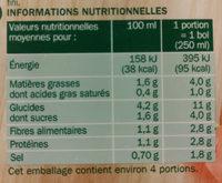 Velouté Gourmand aux 8 Légumes et emmental - Informations nutritionnelles - fr