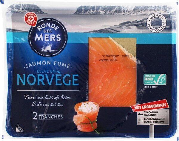 Saumon fumé de Norvège A.S.C. 2 tranches - Produit - fr