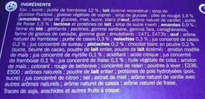 Bûche framboise nougat - Ingredients