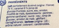 Flan vanille nappe caramel - Ingrédients