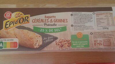 Baguette céréales et graines pré cuite - Product