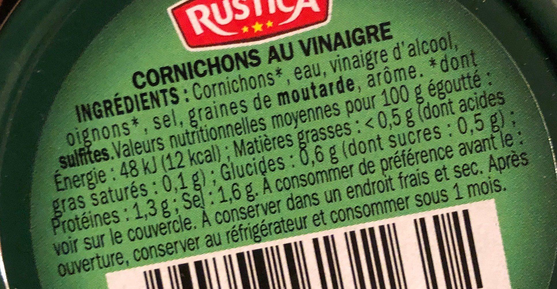 Cornichons - verre decoré - Ingrédients - fr