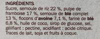 Carré craquant à la framboise - Ingrédients - fr