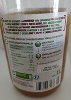 Pur jus pomme bocal produit en conversion vers l'agriculture biologique - Ingrédients - fr