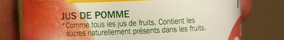 Jus de pomme 100 % pur jus - Ingrédients - fr
