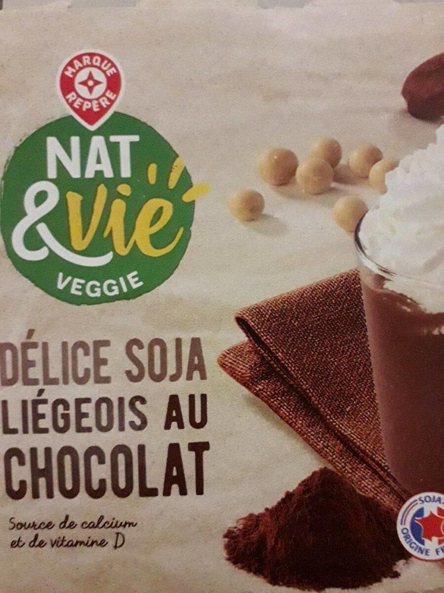 Délice soja liégeois au chocolat - Produit - fr