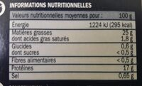 Rillettes de thon germon au poivre sichuan - Nutrition facts