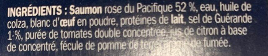 Rillettes de Saumon rose du Pacifique - Ingredients