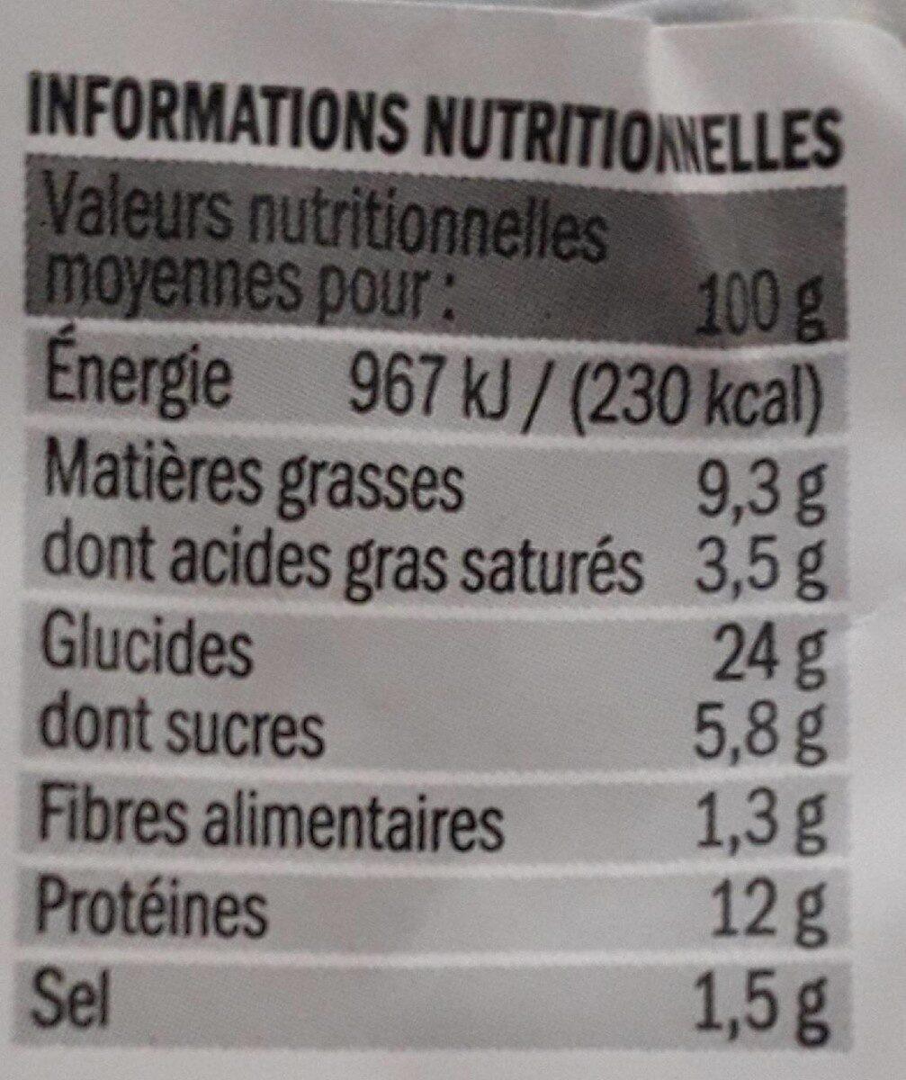 Sandwich jambon emmental 100% mie - Informations nutritionnelles