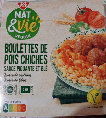 Boulette de pois chiche sauce piquante et blé - Prodotto - fr