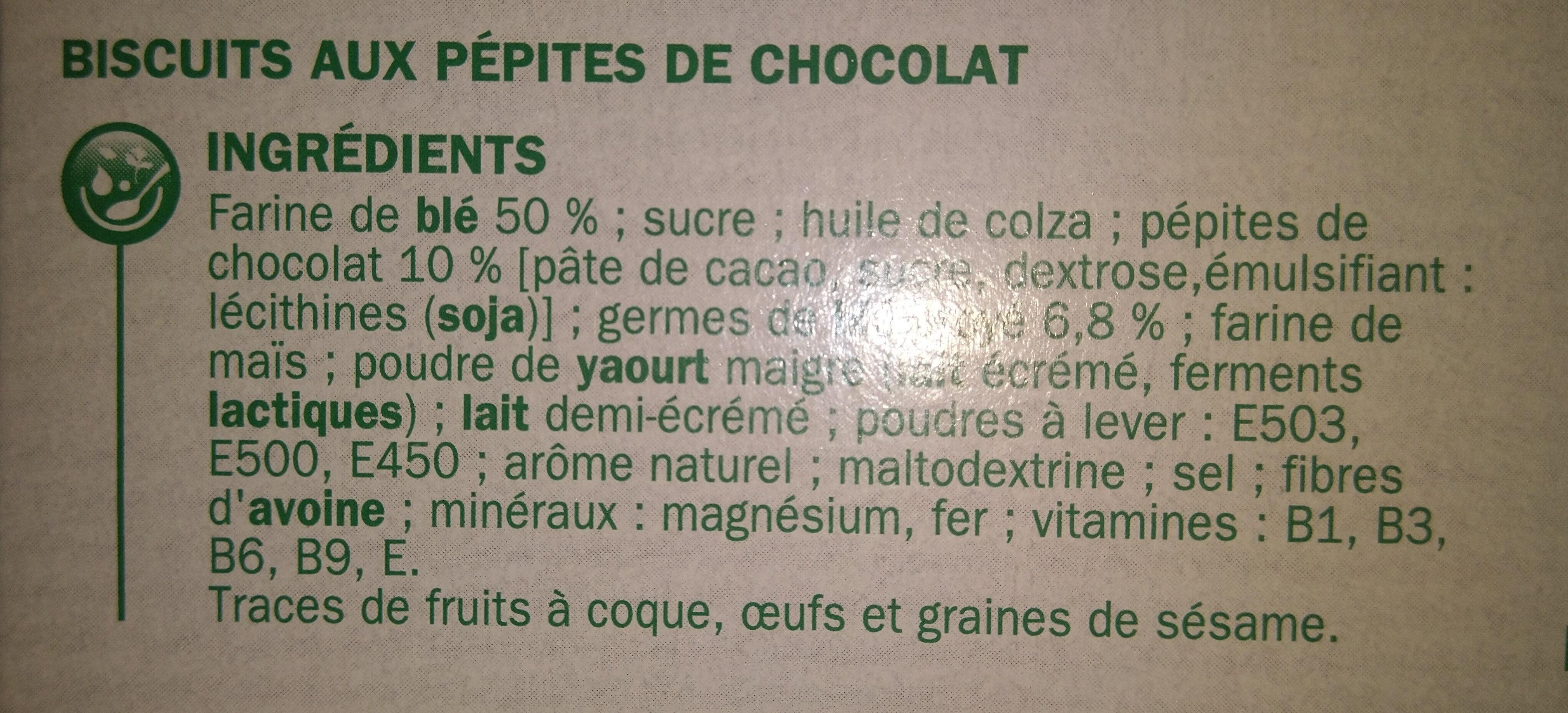 Nat&vie tentre chocolat - Ingredienti - fr