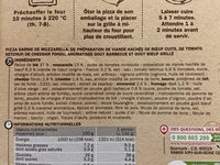 La Pizza XXL Bœuf Cheddar - Ingrédients - fr