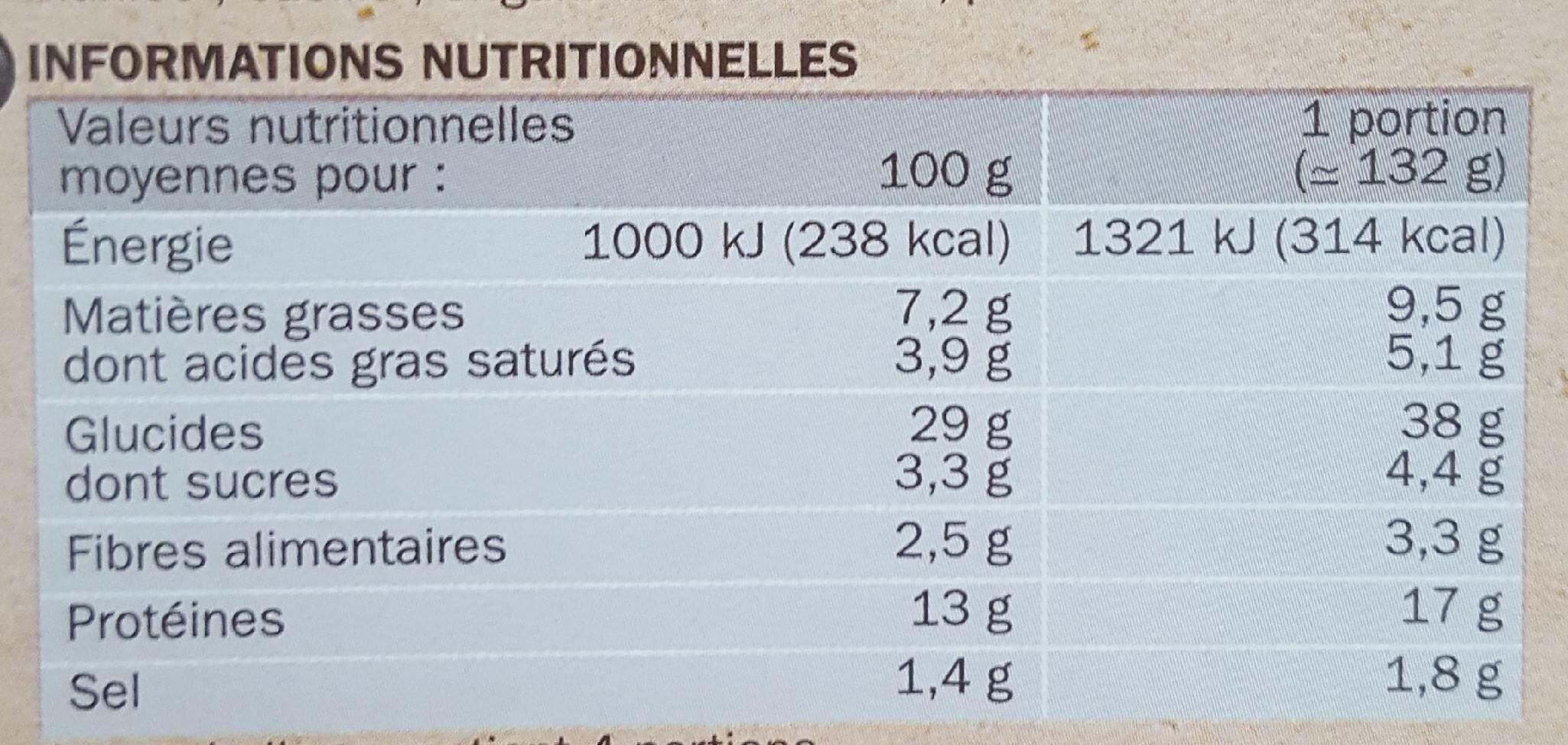 La Pizza XXL Bœuf Cheddar - Informations nutritionnelles - fr