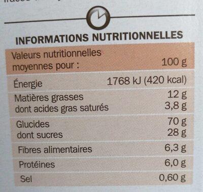 Céréales Fourrées choco lait - Valori nutrizionali - fr