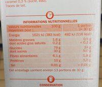 Blé Miel et Caramel - Voedingswaarden - fr