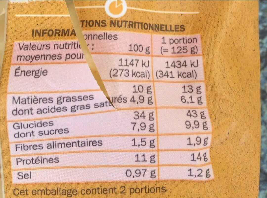 Girasoli - Informations nutritionnelles - en