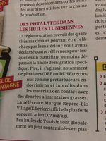 Huile d'olive vierge extra bio - Inhaltsstoffe - fr