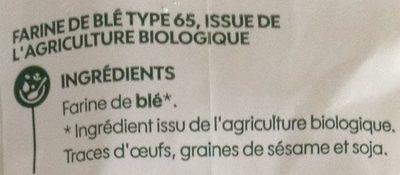 Farine de blé type 65 - kg - Ingrédients - fr
