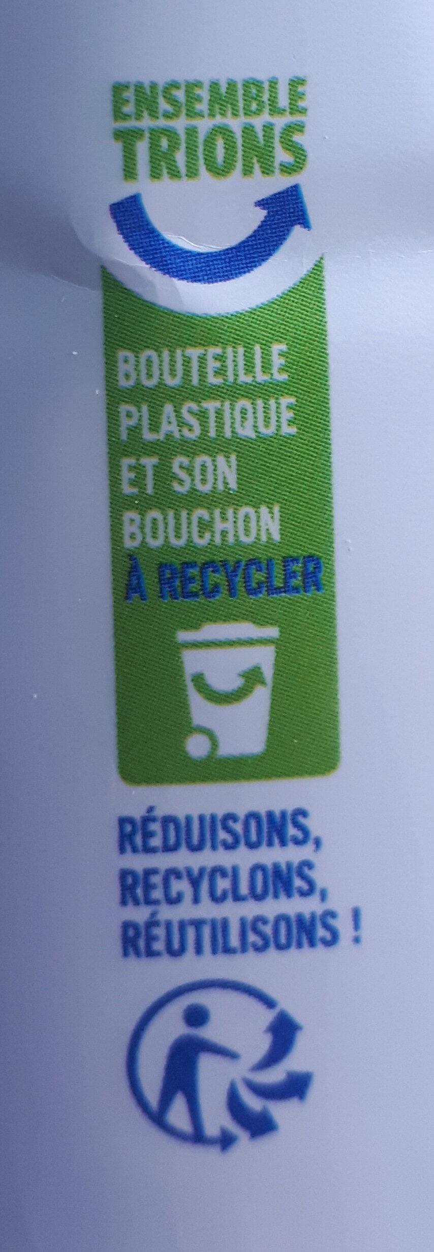 Lait demi-écrémé - Recycling instructions and/or packaging information - fr