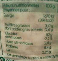 Galettes de riz complet bio - Voedigswaarden