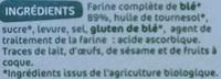 Biscottes complètes x 34 - Ingrediënten