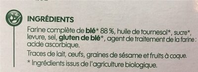 Biscottes complètes - Ingrédients - fr