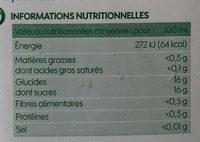 Pur jus de raisin 1 litre - Valori nutrizionali - fr