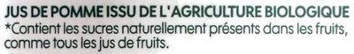 Pur jus pomme bio - Ingredients - fr