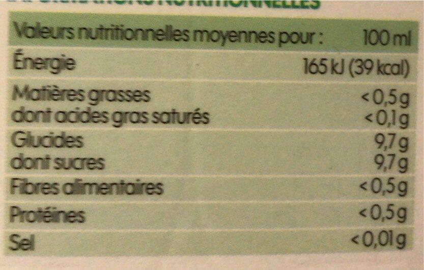 Pur jus pomme bio - Voedingswaarden - fr