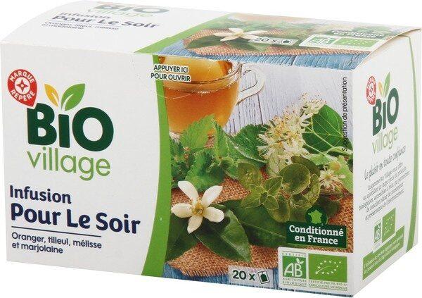 Infusion pour le soir (tilleul/mélisse/oranger/marjolaine) x 20 sachets - Product