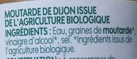 Moutarde de Dijon bio - Ingrédients - fr