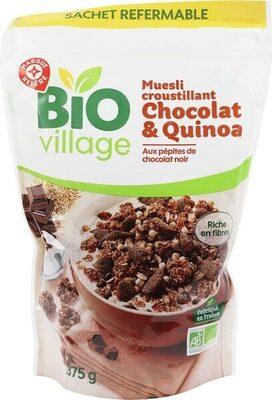 Muesli croustillant quinoa et chocolat bio - Product