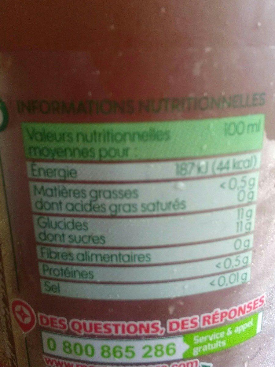 Pur jus de pommes - brique - Ingrédients - fr