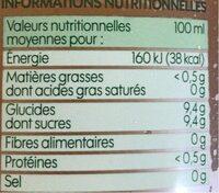 Pur jus de pommes - brique - Informations nutritionnelles - fr