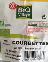 Courgettes bio village - Ingrédients