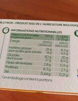 Sablés amandes saveur citron bio - Voedingswaarden - fr